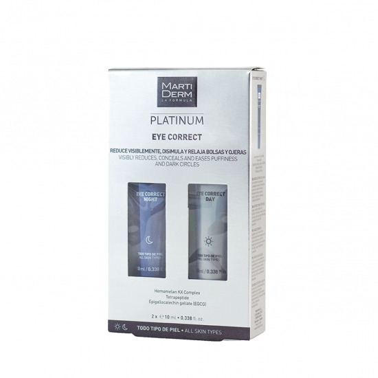 Martiderm platinum eye correct kit dia 10 ml+ noche 10 ml