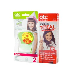 Otc antipiojos pack formula total 125 ml+ lendrera
