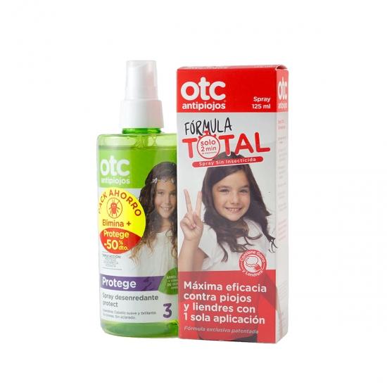 Otc antipiojos pack spray formula total 125 ml+ spray desenredante protect 250 ml