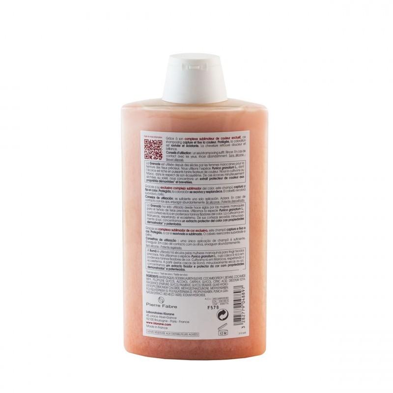 Klorane champu brillo color al exto de granada 400ml-Farmacia Olmos