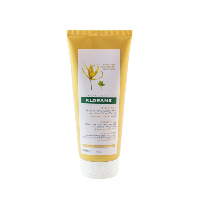 Klorane balsamo reparador a cera de ylang ylang  200 ml-Farmacia Olmos