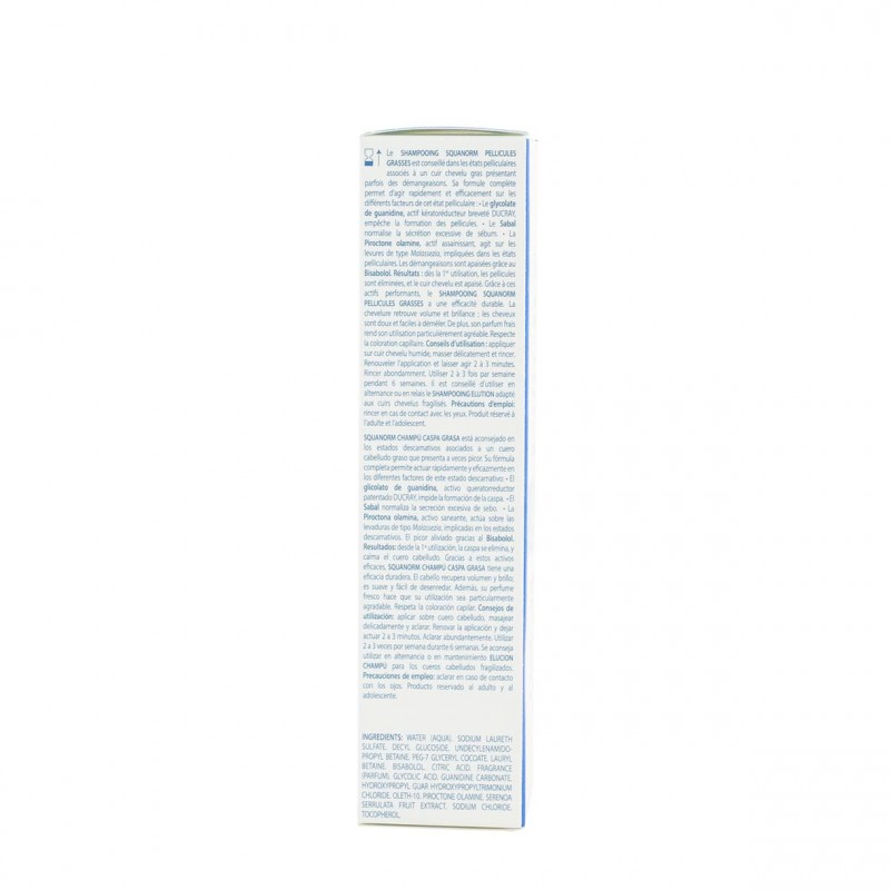 Squanorm champu anticaspa grasa 200ml-Farmacia Olmos