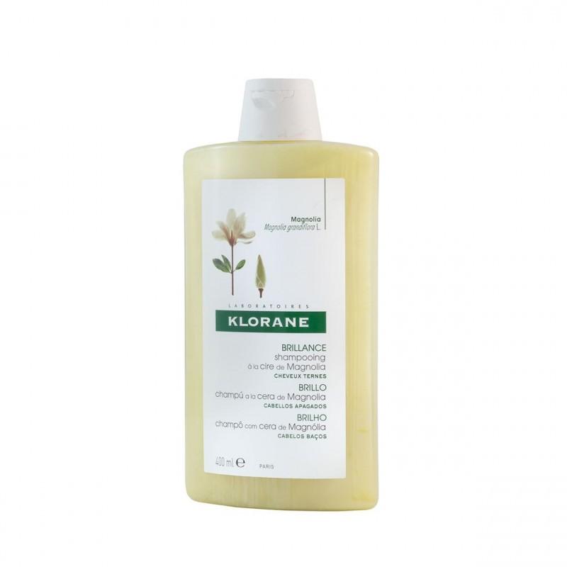 Klorane champu brillo a la cera de magnolia  400 ml-Farmacia Olmos