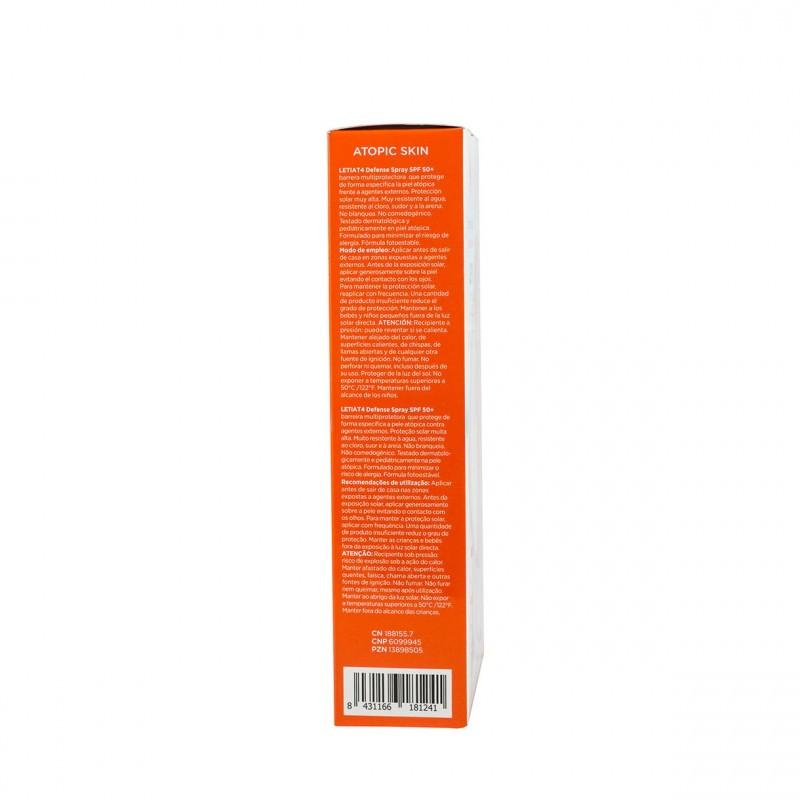 Leti at-4 defense spray+ facial 50* - Farmacia Olmos