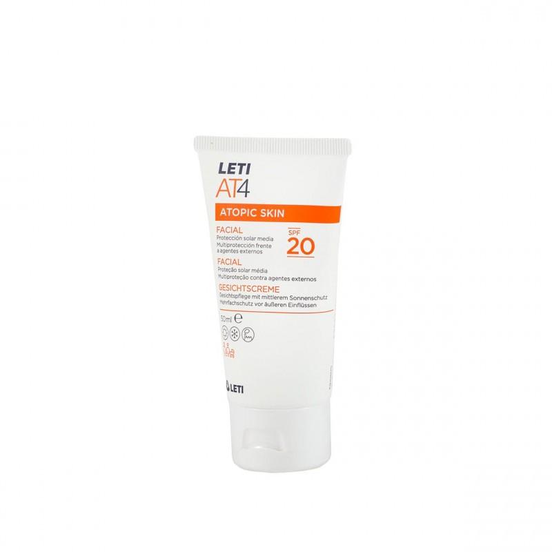 Leti At-4 crema facial spf 20 50 ml - Farmacia Olmos