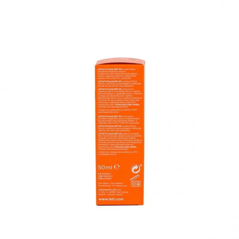 Leti At-4 crema facial  50 ml - Farmacia Olmos