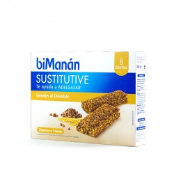 Bimanan sustitutive barritas cereales pepitas de chocolate  8 un