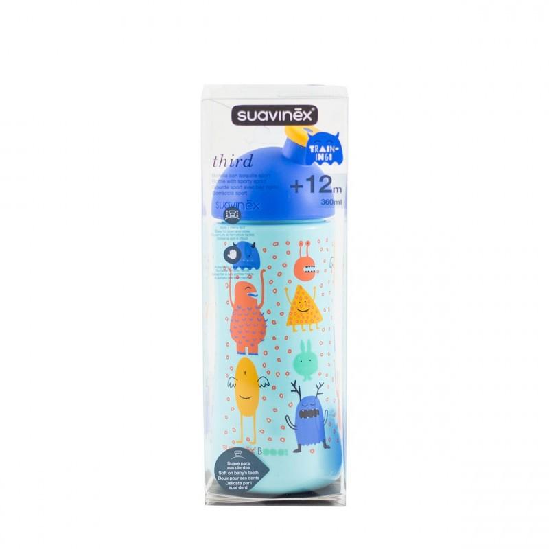 Suavinex botella entrena third boquilla sport 360 ml +18 m - Farmacia Olmos