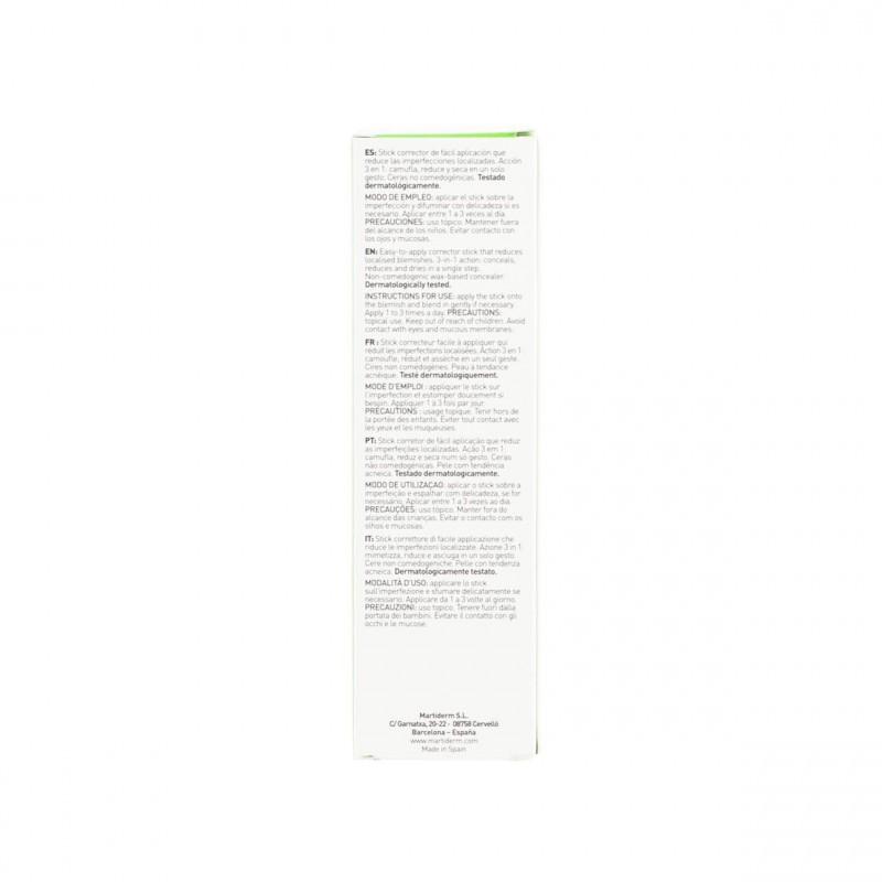 Martiderm Acniover Stick corrector  15 ml - Farmacia Olmos