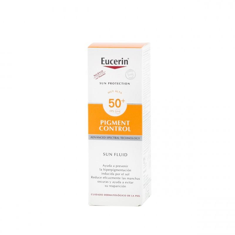Eucerin sun protection spf 50+ pigment control fluido 50 ml - Farmacia Olmos