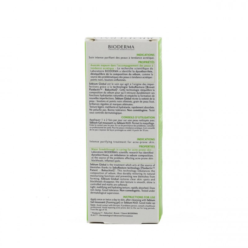 Bioderma sebium global 30 ml-Farmacia Olmos