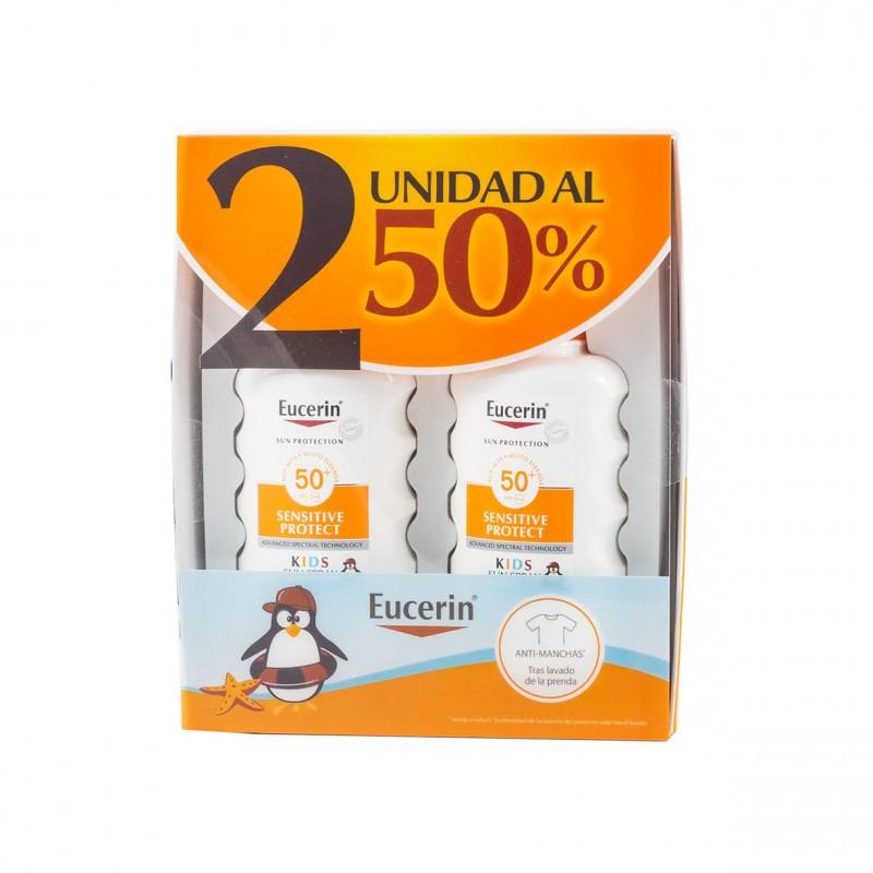 Eucerin sun protection spf 50+ kids spray 200 ml duplo - Farmacia Olmos