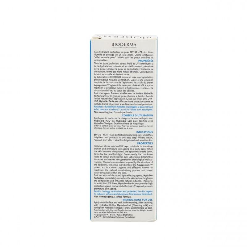 Bioderma hydrabio perfeccionador spf 30  40 ml-Faramcia Olmos