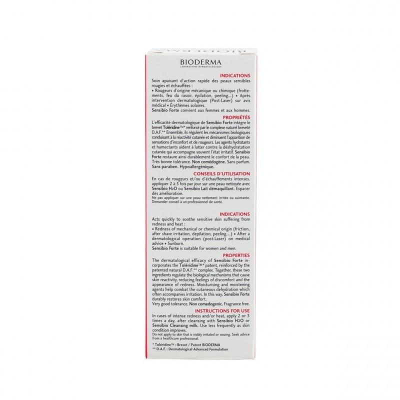 Bioderma Sensibio Forte crema 40 ml - Farmacia Olmos