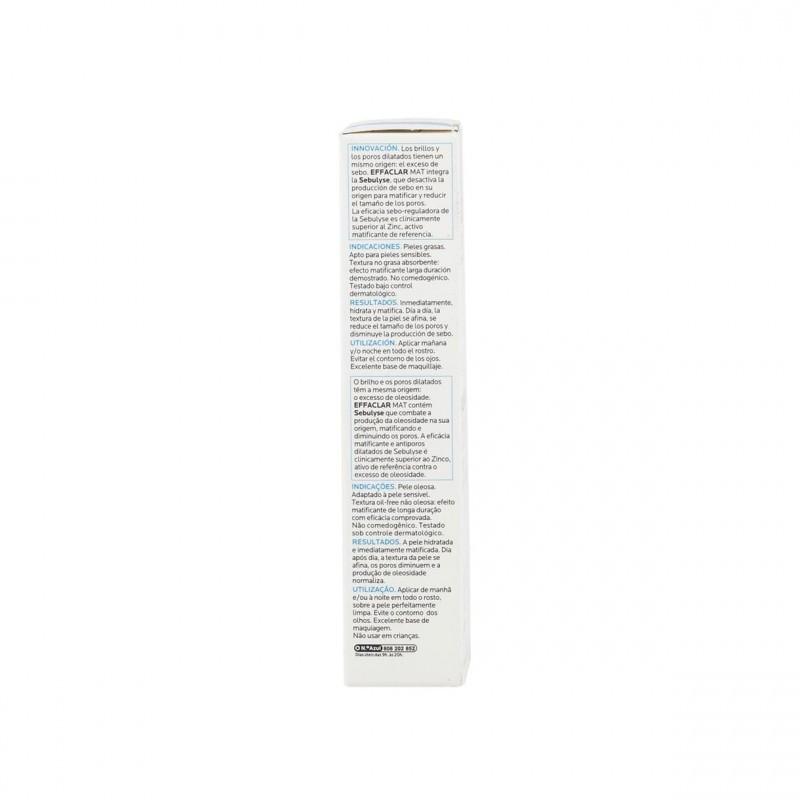 La Roche Posay Effaclar Mat anti-brillos 40 ml - Farmacia Olmos