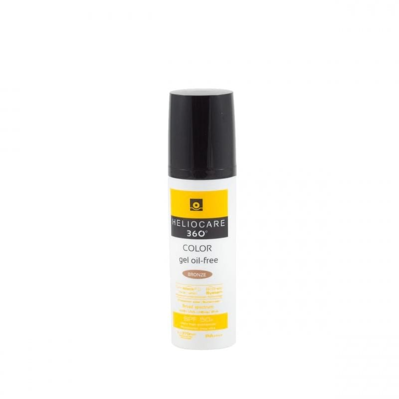 Heliocare 360 pack gel oil-free bronze intense + cushion compact-Farmacia Olmos