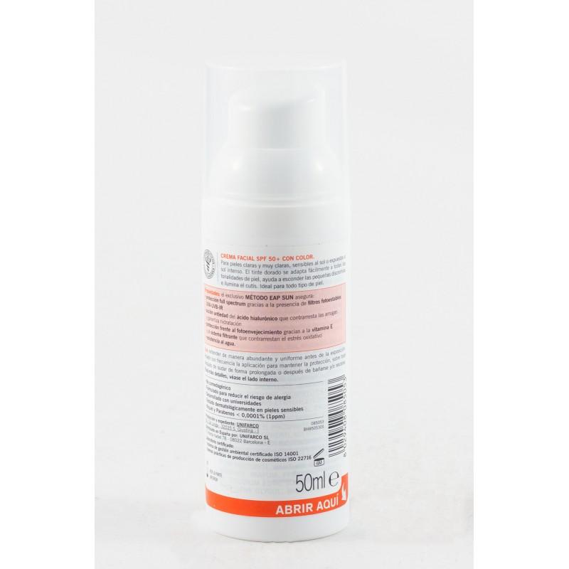 Olmos protector spf50 crema facial  con color 50ml-Farmacia Olmos