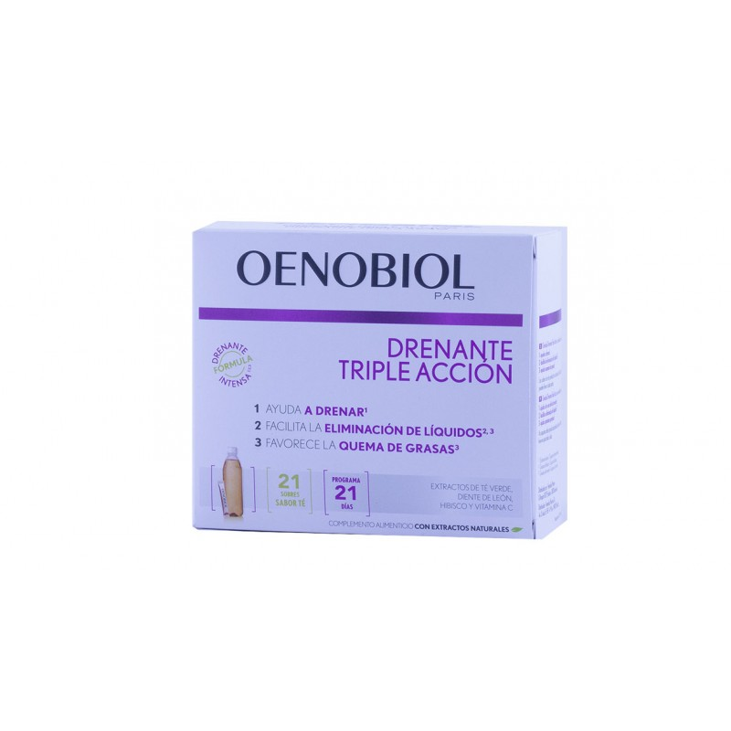 Oenobiol drenante triple accion  21 sobres-Farmacia Olmos