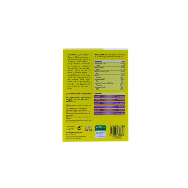 Aquilea detox  10 sticks-Farmacia olmos