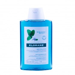 Klorane champu anti-polucion a la menta acuatica  200 ml-Farmacia olmos