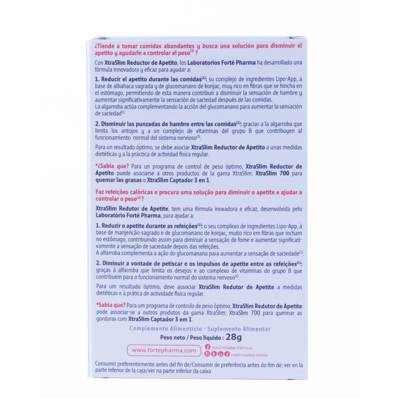 Forte pharma xtraslim reductor de apetito  60 capsulas-farmacia olmos