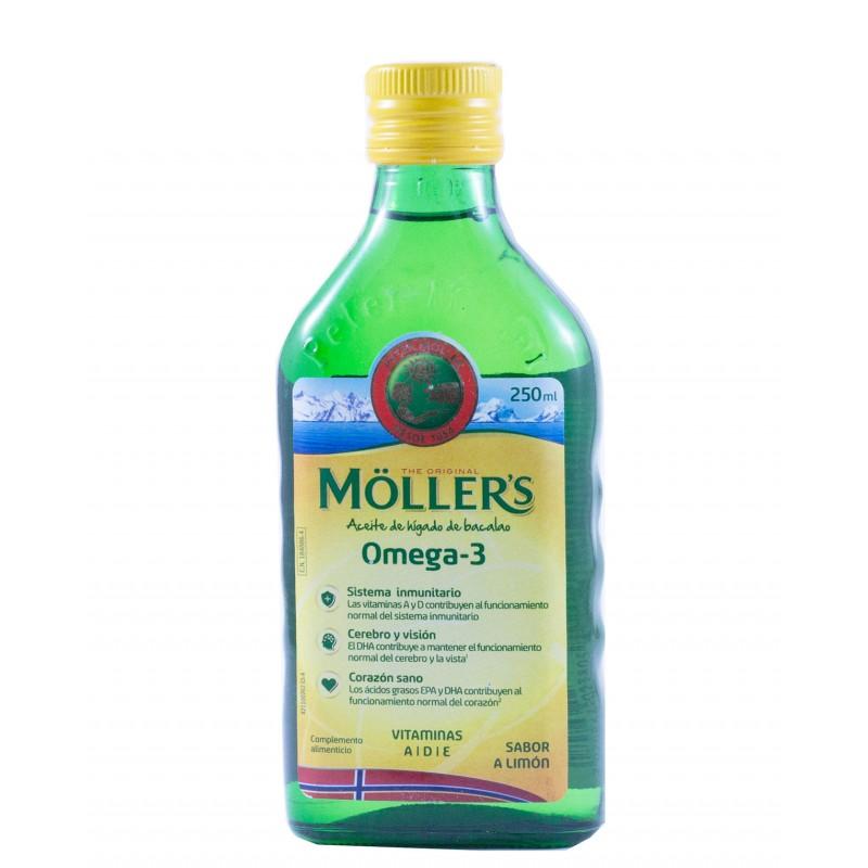 Moller´s omega-3 sabor limon 250 ml-Farmacia olmos