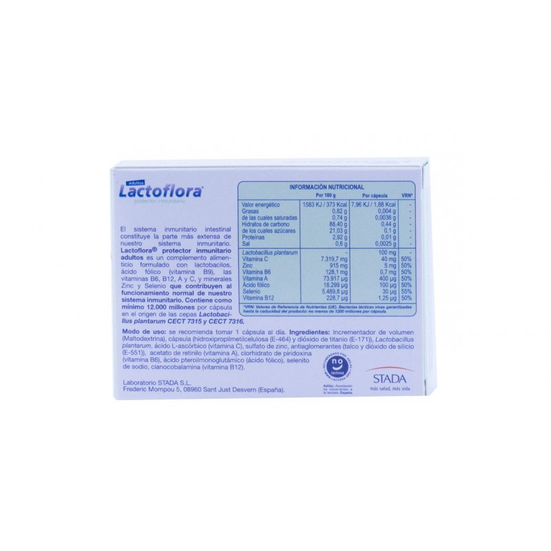 Lactoflora protector inmunitario  30 capsulas-Farmacia olmos