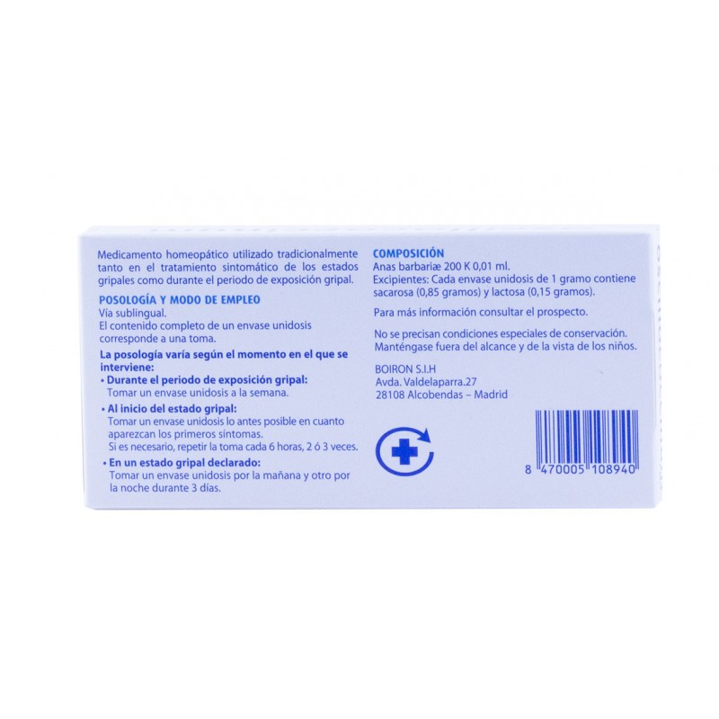 Oscilococcinun 6 dosis boiron-Farmacia olmos