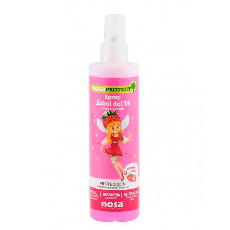 Nosa spray desenredante arbol del te (aroma fresa) 250 ml - Farmacia Olmos