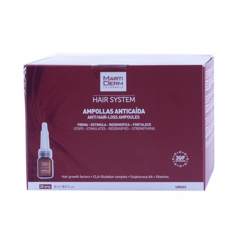 Martiderm hair system 28 ampollas anticaida-Farmacia olmos