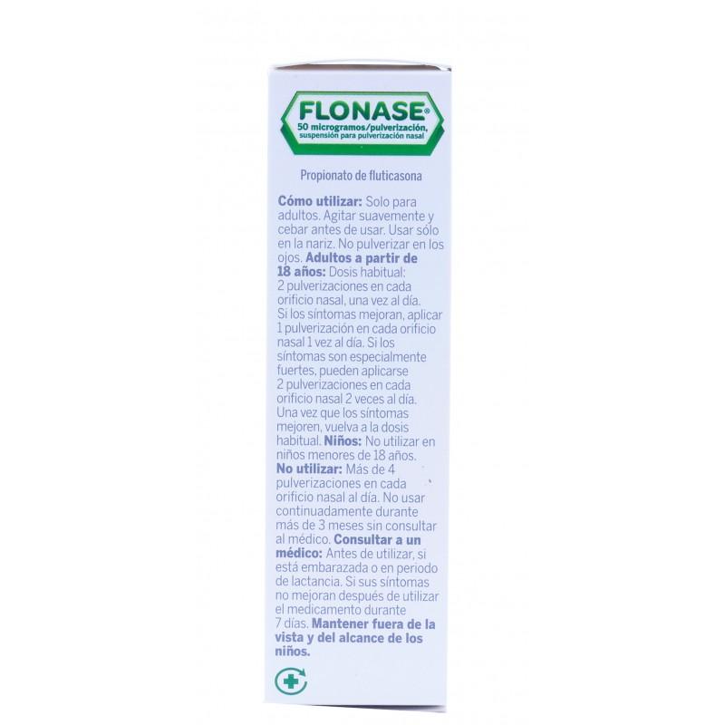 Flonase 50 mcg/pulsacion nebulizador nasal 60 dosis-Farmacia olmos