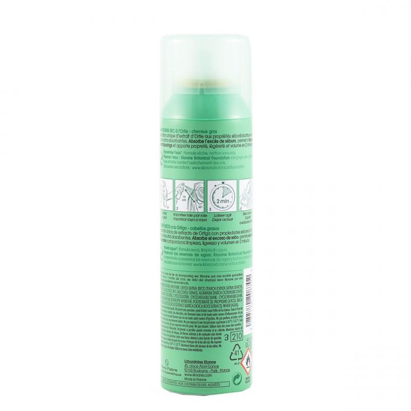 Klorane champu seco seborregulador al exto de ortiga  150 ml-Farmacia Olmos
