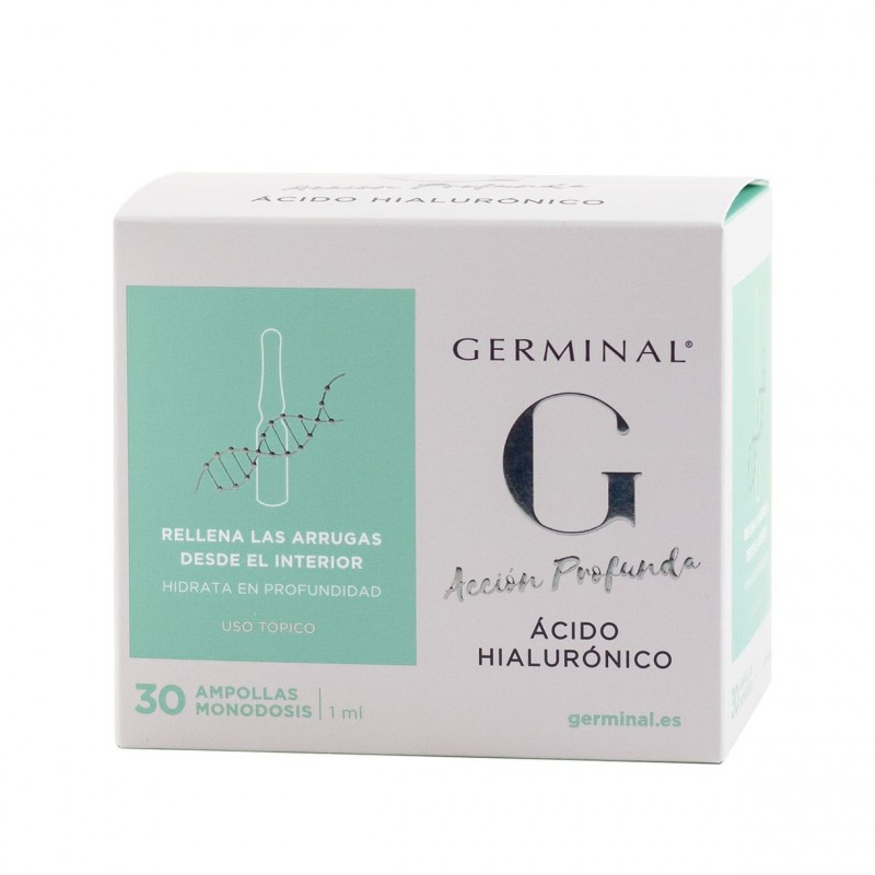Germinal accion profunda acido hialuronico  1 ml 30 ampollas-Farmacia Olmos
