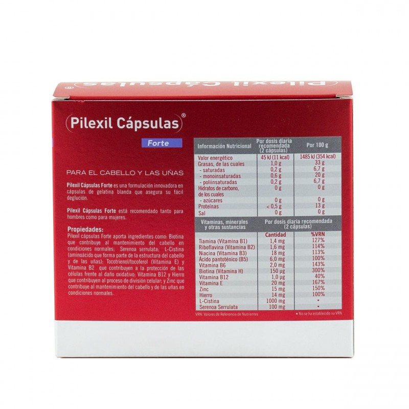 Pilexil forte 100 capsulas-Farmacia Olmos