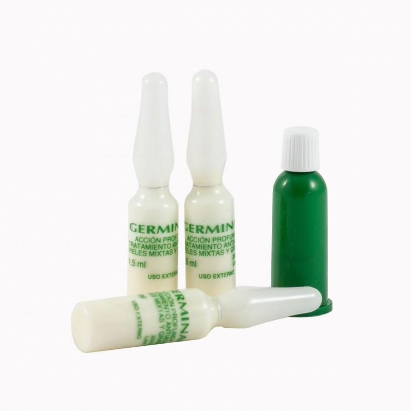 Germinal accion profunda  tratamiento antiaging pieles mixtas y grasas 30 ampollas x 1,5 ml-Farmacia Olmos