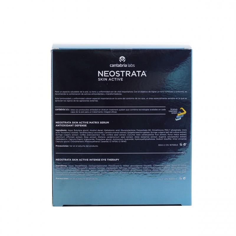 Ne0strata skin active protocolo defensa antioxidante rostro y ojos-Farmacia Olmos