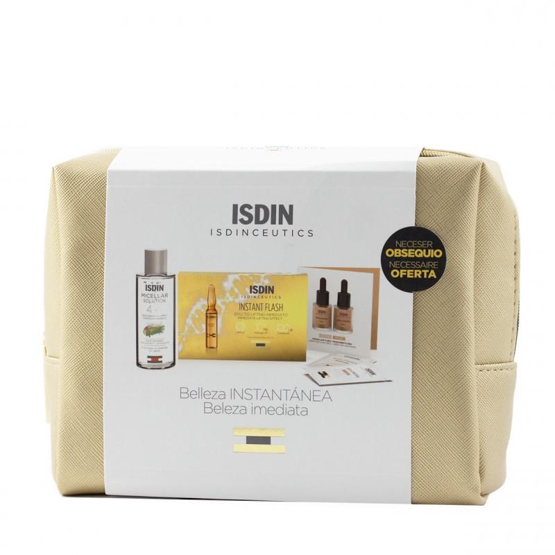 Isdinceuticals pack belleza instantanea: instant flash 5 ampollas+solucion micelar 100ml-Farmacia Olmos