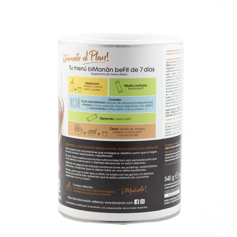 Bimananbe fit crema hiperproteica chocolate 540 g - Farmacia Olmos