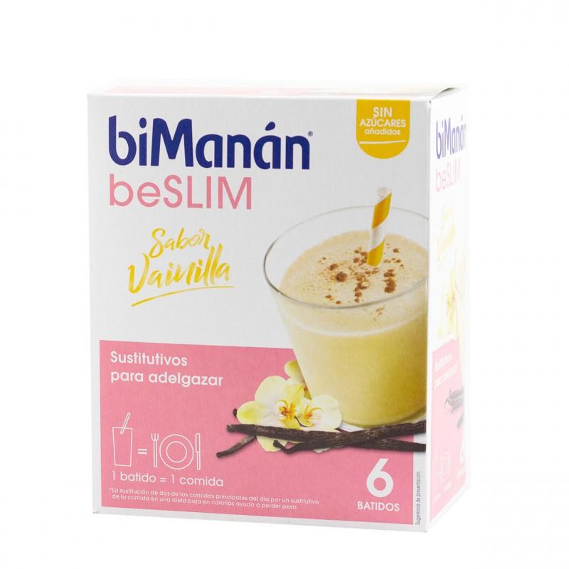 Bimanan be slim batido de vainilla 6 sobres-Farmacia Olmos