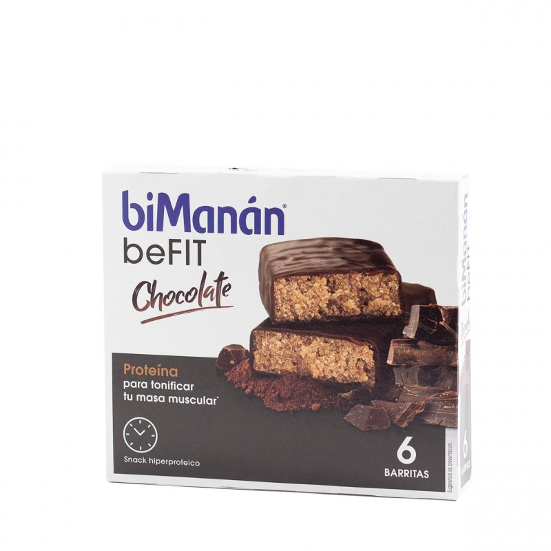 Bimanan be fit barritas hiperproteicas chocolate  6 un-Farmacia Olmos