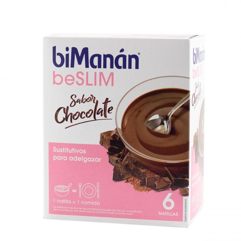 Bimanan be slim natillas chocolate 6 sobres-Farmacia Olmos
