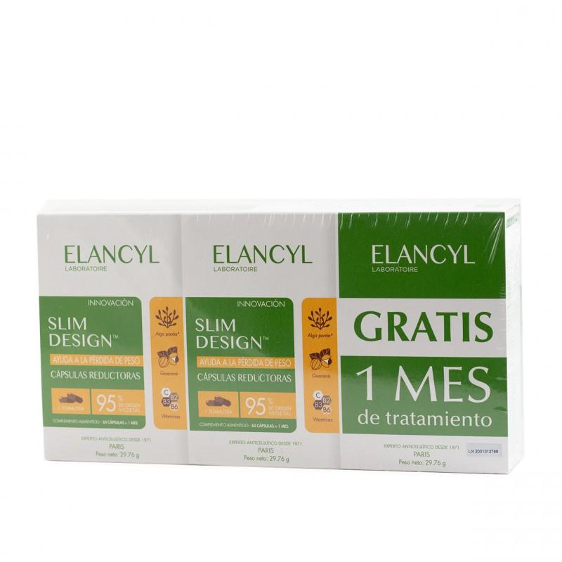 Elancyl slim design capsulas reductoras 120 capsulas + regalo 60 capsulas