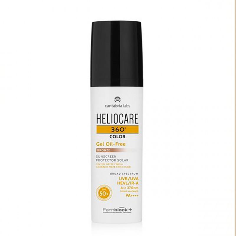 Heliocare 360º spf 50+ color gel oil-free bronze 50 ml - Farmacia Olmos