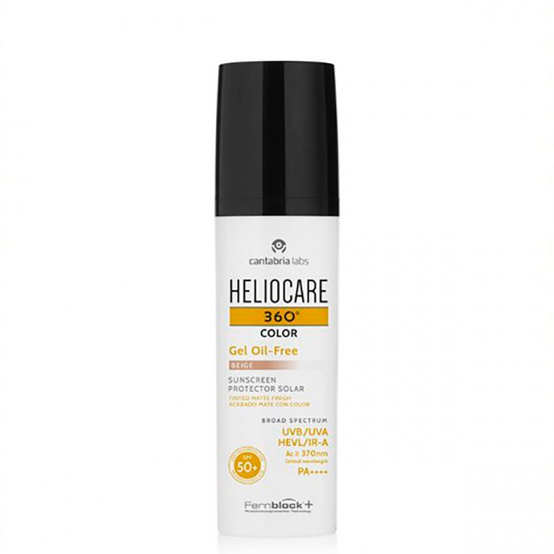 Heliocare 360º spf 50+ color gel oil-free beige 50 ml - Farmacia Olmos