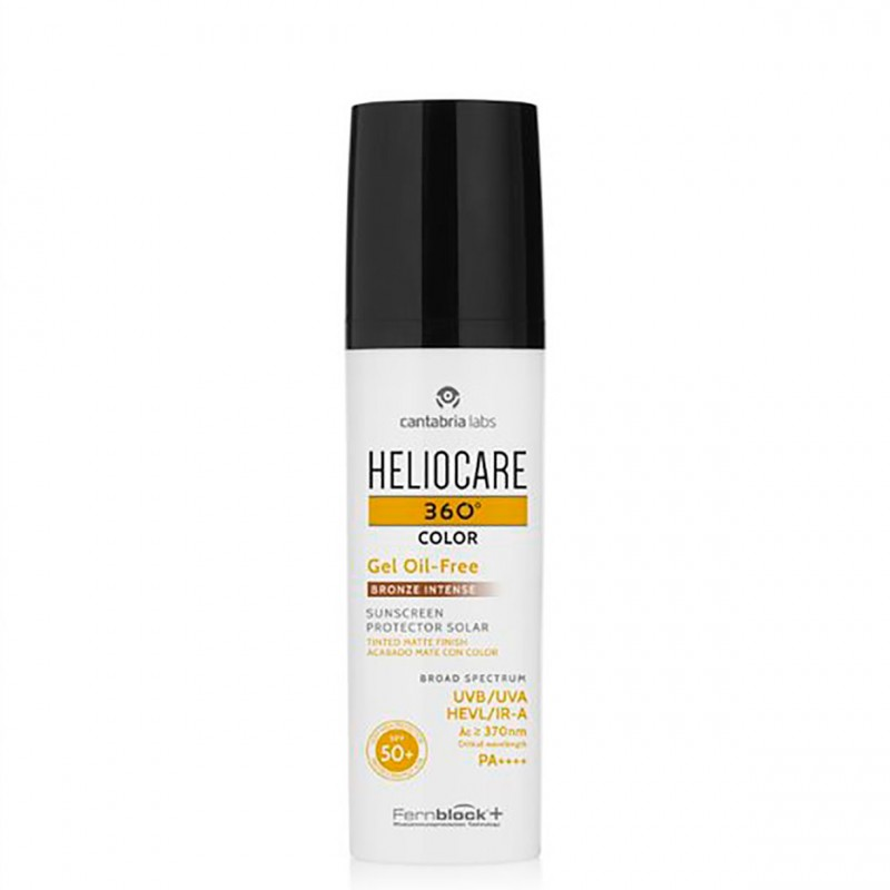 Heliocare 360º spf 50+ color gel oil-free bronze intense 50 ml-farmacia olmos
