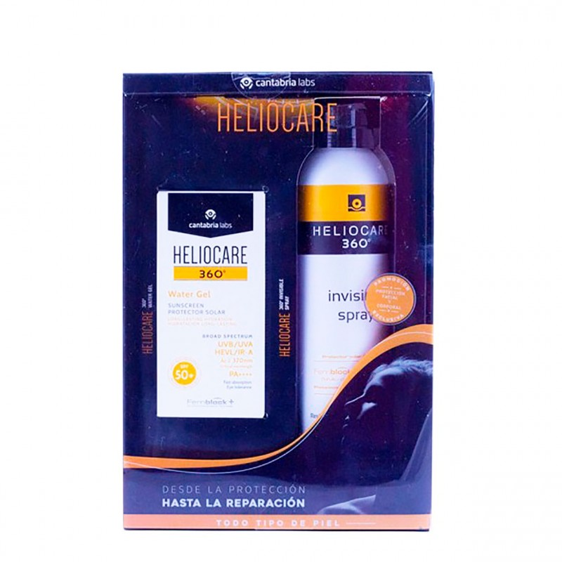 Heliocare 360 pack water gel facial 50+ 50 ml + spray corporal 200ml-Farmacia Olmos