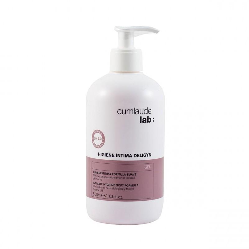 Higiene íntima fórmula suave, pH neutro.