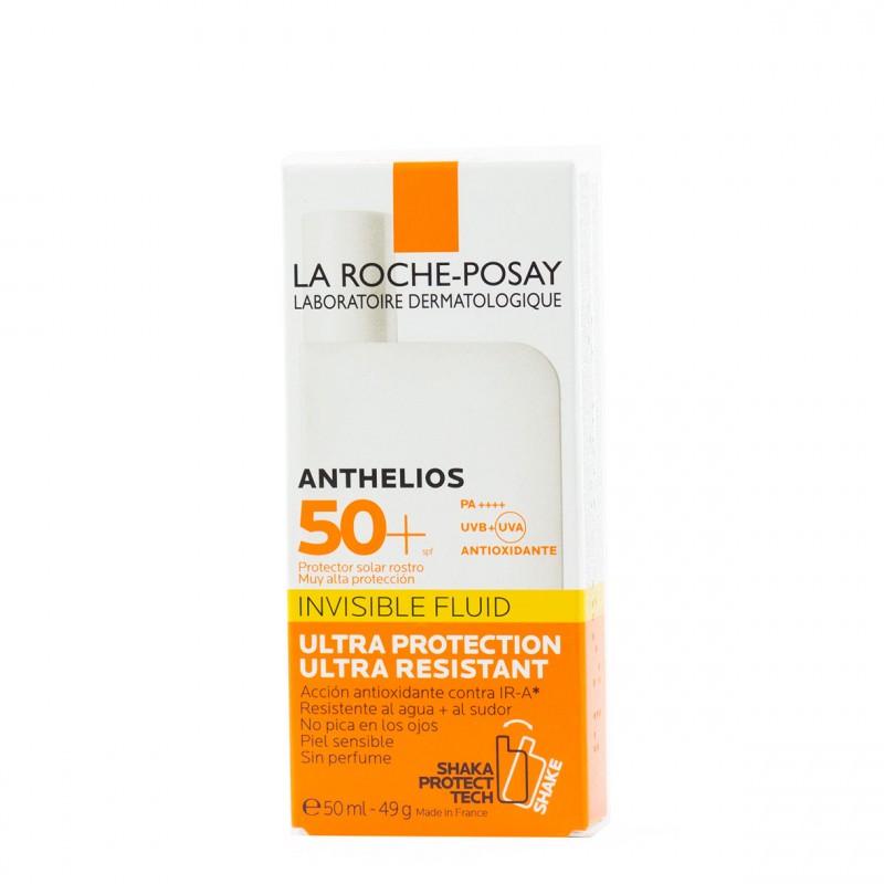 La roche posay anthelios spf 50+ rostro fluido ultra-ligero sin perfume 50 ml - Farmacia Olmos