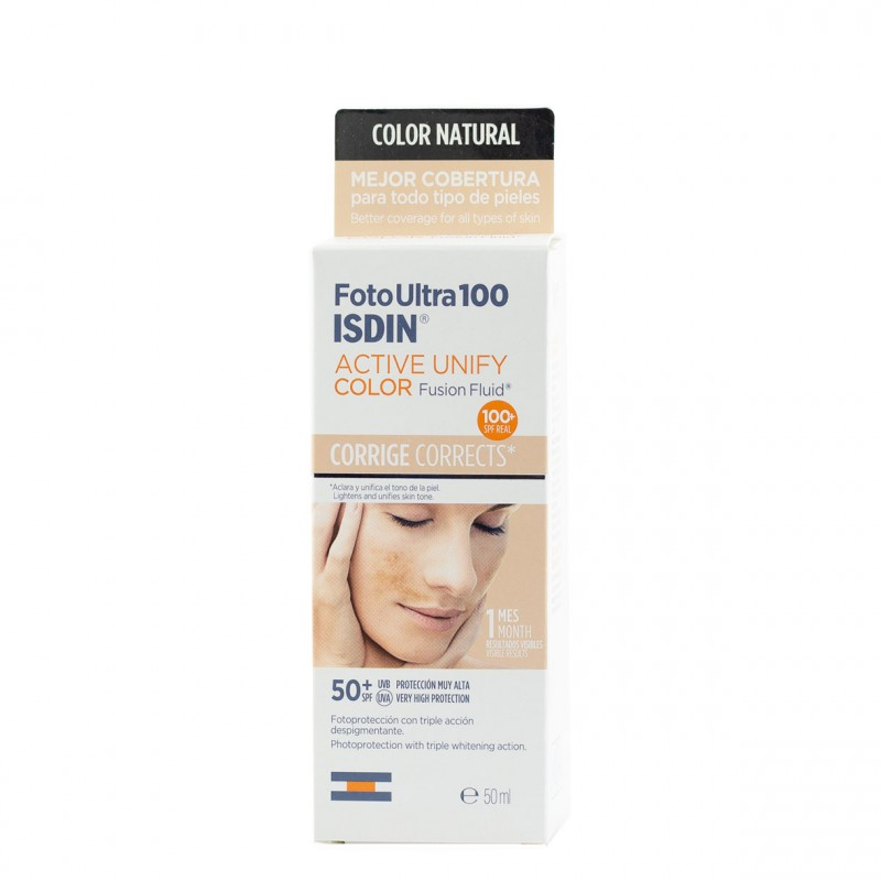 Isdin fotoultra active unify fusion fluid color spf 50+ 50ml-Farmacia Olmos