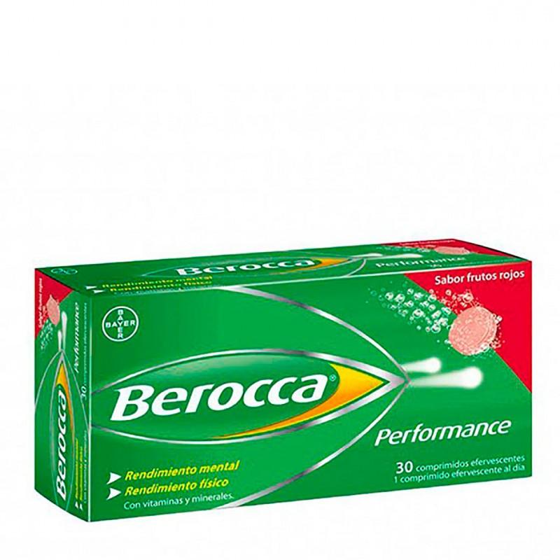 Berocca performance 30 comprimidos efervescentes frutos rojos-Farmacia Olmos